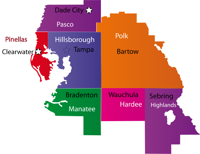 coverage areas
